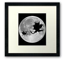 Santa Claus Dragon Rider Sleigh Ride Framed Print