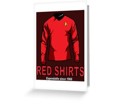 Star Trek - Expendable Red Shirts Greeting Card