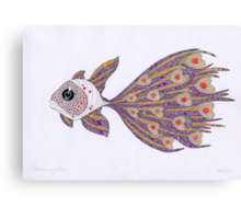 Fish of hearts Canvas Print