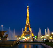Eiffel Tower by night  by Rob Hawkins