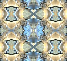 Blue And Gold Pattern by perkinsdesigns