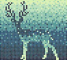 Circle pixels deer by oxanaart