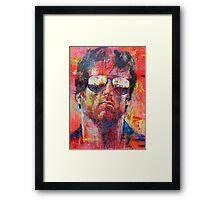 Sly, Cobra, Sylvester Stallone Framed Print