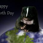 Earth Day Skunk by jkartlife