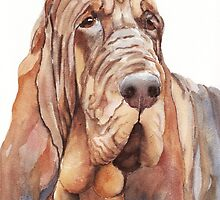 Bloodhound Painting by artendeavors