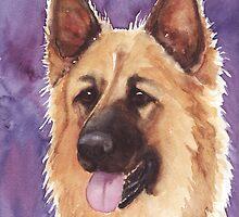 German Shepherd Painting by artendeavors