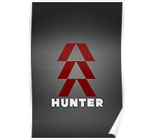 Destiny Game - Hunter Symbol with Gradient Poster