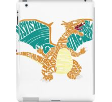 Charizard Typography iPad Case/Skin