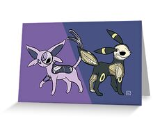 Espeon & Umbreon Anatomy Greeting Card