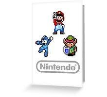Nintendo Shirt - Mario, Zelda, Megaman Greeting Card