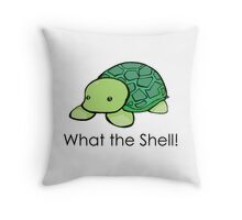What the Shell! (Pun) Throw Pillow