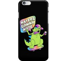 """Haters Gonna Hate"" Reptar (black) iPhone Case/Skin"
