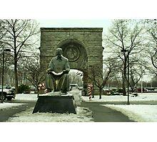 Statue of Nikola Tesla at Niagara Falls, New York Photographic Print