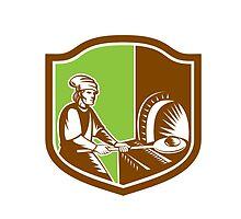 Baker Peel Bread Pan Shield Retro by patrimonio