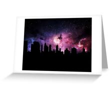 The City Sky Greeting Card