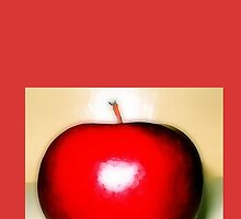 Shining red apple  by almawad