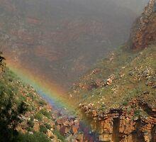 Rainbow in Meiringspoort by Hermien Pellissier