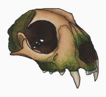 Mossy Bobcat Skull by Anna Beylenn