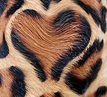 leopard fur heart by spetenfia