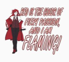 Grell is Flaming Red! Kids Clothes