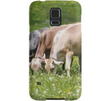 cows in the meadow Samsung Galaxy Case/Skin