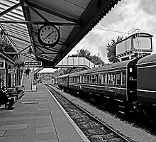 Toddington Railway Station (B&W)  by ScenicViewPics