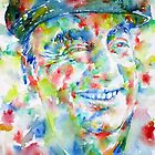 PABLO NERUDA - watercolor portrait by lautir