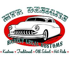 HTR Designs Barely Legal Kustoms garage Photographic Print