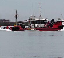 Tug Boat at Work by caz60B