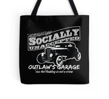Outlaw's Garage. Socially unaccepted Hot Rod. Tote Bag