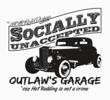 Outlaw's Garage. Socially unaccepted Hot Rod light bkg by htrdesigns