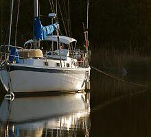 Sunset Sailboat by imagetj
