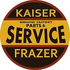 Kaiser Frazer Approved Service vintage sign (brown) by htrdesigns