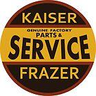 Kaiser Frazer Approved Service vintage sign (brown) by htrdesigns