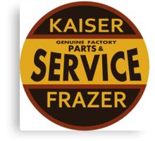 Kaiser Frazer Approved Service vintage sign (brown) Canvas Print