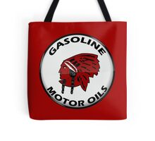 Red Indian Gasoline vintage sign reproduction crystal vers. Tote Bag