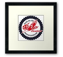 Pure Firebird Racing Gasoline vintage sign reproduction Framed Print