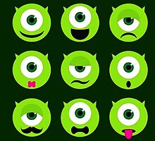 Mike Mazowski - Monsters & Co Funny Faces by Mellark90