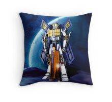 Giant Robot Phone Box with The Doctor Throw Pillow
