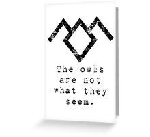 Suspicious owls Greeting Card