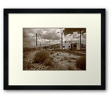 Route 66 - Twin Arrows Trading Post Framed Print