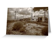Route 66 - Twin Arrows Trading Post Greeting Card
