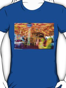 View of Carousel with horses on a carnival Merry Go Round T-Shirt