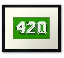 420 HIGH Framed Print