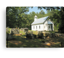 Cades Cove Missionary Baptist Church... products Canvas Print
