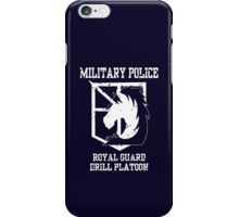 MILITARY POLICE - Drill Platoon iPhone Case/Skin