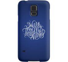 Wibbly Wobbly White Samsung Galaxy Case/Skin