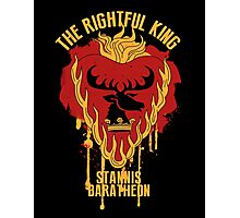 Stannis Baratheon Shirt Game of Thrones Photographic Print