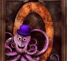 Steampunk - Alphabet - O is for Octopus by Mike  Savad