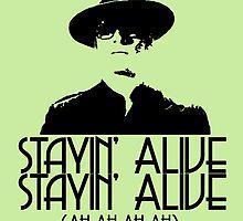 Erik is Stayin' Alive. Stayin' Alive. by schmaslow